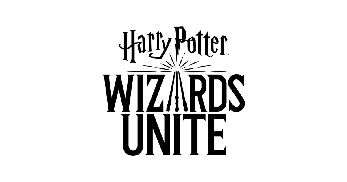 Logo of Niantic's Harry Potter Wizards Unite with wands featured as the A in Wizards